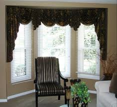 Swag Valances For Windows Designs Swag Valances For Bay Windows Swags And Jabots In A Bay Window