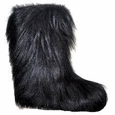 boots hair womens 810 black hair fur boot alpine accessories