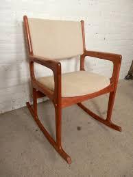 Design Rocking Chair Vintage Mid Century Modern Rocking Chair By Benny Linden For Sale