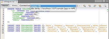 How To Delete A Table In Sql Working With The Java Db Derby Database Netbeans Ide Tutorial