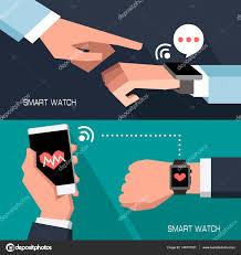 Smart Gadgets Hands Using Smart Gadgets U2014 Stock Vector Scorpion333 146707351