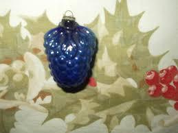 antique 1920s cobalt blue mini glass feather christmas tree