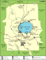 map of oregon near crater lake crater lake national park map gorp np illustrations