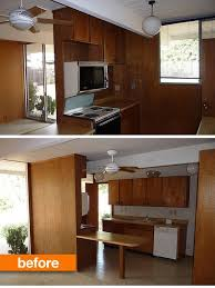 retro wood paneling before after a retro kitchen stays true to its roots
