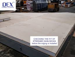 stressed skin deck panels dex exhibit systems