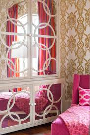 Pink And Gold Bedroom by Pink And Gold Girls Bedroom With Mirrored Cabinet Contemporary