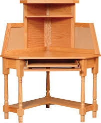 furniture wood corner secretary desk with hutch and shelf