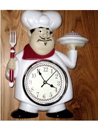 Chef Decor For Kitchen by Fat Italian Chef Kitchen Wall Clock Red White 21 95 Fat Chefs