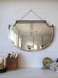 Bathroom Mirror Bevelled Edge Vintage Large Art Deco Bevelled Edge Wall Mirror Lovely Shape