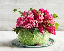 Flower Table L Dining Room Table Cabbage Flower Centerpiece Modern