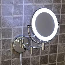 Illuminated Bathroom Wall Mirror Bath Mirrors Brass Cosmetic Makeup Mirror Led Light Of Bathroom