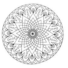 mandala abstract simple mandalas coloring pages adults