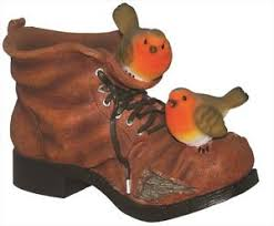 brand new robin boot planter flower pot garden ornament ebay
