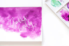 diy watercolor thank you cards design sponge
