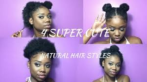 super cute hairstyles for short natural hair half up space