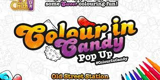 candy crush soda promotes colouring book with wall sketch
