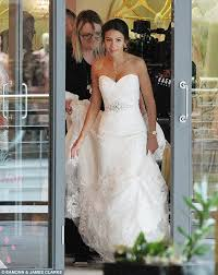 wedding dress daily keegan slips back into a wedding gown to our girl