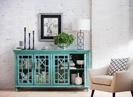 Teal Dining Room Add Color In A Stark Space With Our Grenoble Media Cabinet