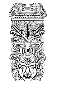 free coloring page coloring totem inspiration inca mayan