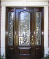 Exterior Entry Doors With Glass Beveled Glass Entry Doors Exterior Front With Regard To Designs 5