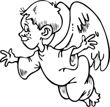 small boy angel coloring free printable coloring pages