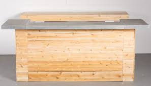 concrete top bar table cedar concrete counter top bar reserve modern event rentals