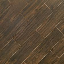 floor and decor wood tile burton walnut wood plank porcelain tile 6in x 24in 100436062