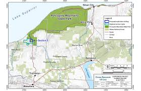 Upper Peninsula Michigan Map by Exploratory Drilling Allowed In Porcupine Mountains Wilderness