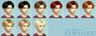 sims 4 kids hair levi the sims4 child hair kewai dou