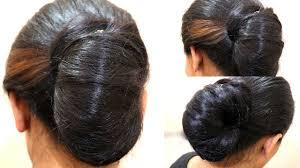 juda hairstyle steps simple juda messy bun in a minute indian wedding juda diy