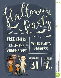 halloween party banner design with kids stock vector image 78811414