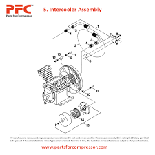 07 05 intercooler assembly for 2475 ir 2475 parts