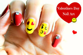 emoji nail art valentine u0027s day nail art design tutorial youtube