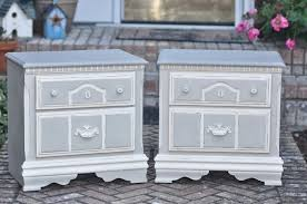 shabby 2 uniquely chic chic linen grey nightstands shabby 2