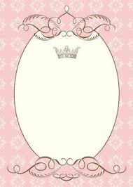 moldura coroa mais invitations pinterest princess party
