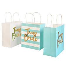 bridal party gift bags s moment set of 12 gold foil team bags