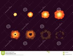sprite sheet for cartoon fire explosion mobile flash game effect