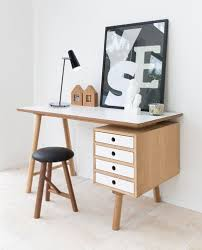 Timber Office Desk Scandi Workspace Idea Timber And White Home Decor