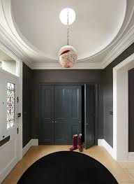 Contemporary Cornices Entrance Hall Furniture Hall Contemporary With Arched Doorway