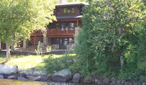 Craftsman Style Architecture by Lake House