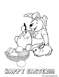 winnie pooh easter bunny coloring pages printable