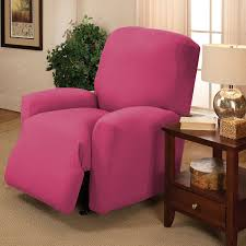 amazon com stretch jersey recliner slipcover pink home u0026 kitchen