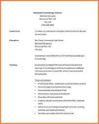cosmetologist resume exles cosmetologist resume exles unique 8 resume exles for