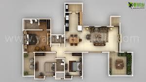 awesome new modern house 3d floor plan design on behance