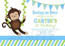 birthday invitations monkey 1st invites birthday