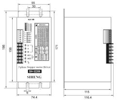 sh 32206 3 phase stepper motor driver drive 86 110 130bygh motor