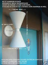 Mid Century Modern Wall Sconce Eames Knoll Modern Aluminum Wall Sconce Mid Century Ebay
