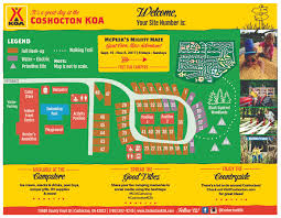 Coshocton Ohio Map by Coshocton Ohio Campground Coshocton Koa