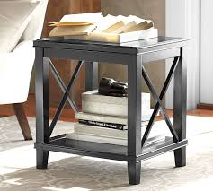 pottery barn black coffee table cassie side table pottery barn