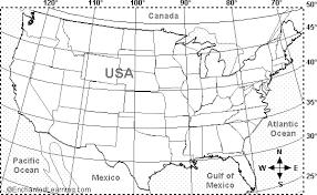 united states map with longitude and latitude cities usa latitude and longitude activity printout 2